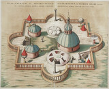 Brahe's observatory at Stjerneborg, Hven, 1584.