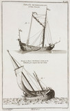 Yacht and canal boat, 1769.