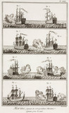 Ships signalling to each other at night by firing cannons, 1769.