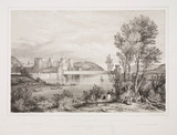 'The Conway Tubular Bridge and Castle', 1848.