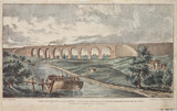 'View of the Viaduct over the Sankey Canal', 19th century.