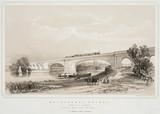 The Maidenhead Bridge, Berkshire, c 1845.
