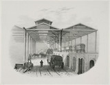 A proposed freight transfer depot on the Great Western Railway, 1830s.