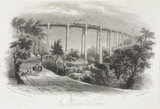 'Ivy Bridge Viaduct' , Devon, 1848.
