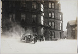 Motor car outside a hotel, c 1912.