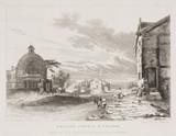 'Newton Church and Village', Merseyside, 1831.