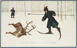 Rusian hunting scene, 17th century.