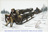 """""""'Man-controlled Sledge for Transporting Timber, 19th-20th Century', 1967."""""""