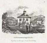 'The Mining Establishment Buildings', Durrnberg, Austria, 19th century.