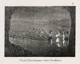 Salt mining scene, Durrnberg, Austria, 19th century.