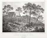 Seal hunter's hut, Australia, 1826-1829.