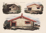Maori houses, New Zealand, 1826-1829.