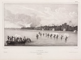 French sailors fighting with indigenous  people, Tonga, 1826-1829.