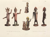 Carved wooden figures, New Guinea, 1826-1829.