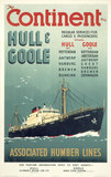 'The Continent via Hull & Goole', BR poster, 1955.