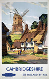 'Cambridgeshire', BR poster, 1948-1965.
