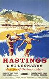 'Hastings & St Leonards', BR poster, c 1950s.