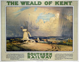 'The Weald of Kent', SR poster, 1923-1936.