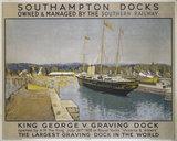 'Southampton Docks', SR poster, 1933.
