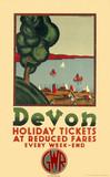 'Devon', GWR poster, 1932.