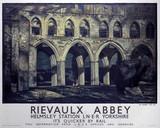 'Rievaulx Abbey', LNER poster, 1923-1947.