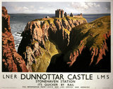 'Dunnottar Castle', LNER & LMS poster, 1939.
