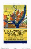 'The Londoner's Garden - Kent', SR poster, 1923-1941.