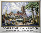 'Dordrecht via Harwich', LNER poster, 1934.