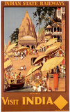 'Visit India', Indian State Railways poster, c 1930s.