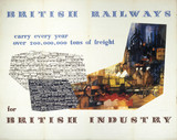 'British Railways for British Industry', BR poster, 1948-1964.