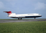 Hawker Siddeley Trident 1E aircraft, 1963.