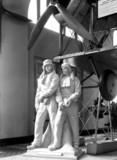 Statue of John Alcock, and Arthur Whitten Brown, British aviators, 1954.