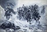 Cavalry escorting an observation balloon, Boer War, 1899-1902.