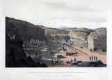 'An Interior View of the Haytor Granite Quarries', Devon, 1825.