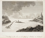 'Travelling on the Ice over the Gulf of Bothnia to Finland', c 1798-1799.
