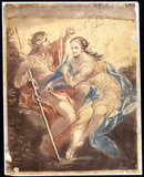 Venus and Adonis, mechanical painting, 1778-1781.