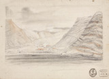 Town in a valley by the sea, South Atlantic, 1828-1831.