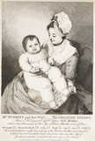 'Mrs Everitt and her Son; the Gigantic Infant', 1780.