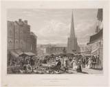 High street market, Birmingham, 1827.