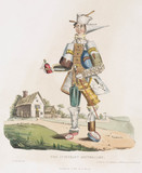 'The Itinerant Apothocary', hand-coloured aquatint, 1830.