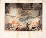 'Drawing the retorts at the great gas light establishment, Brick Lane', 1821.