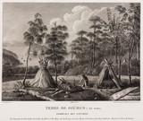 Aboriginal tombs, Tasmania, Australia, 1801-1803.