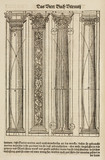 Different types of  clasical columns, 1548.