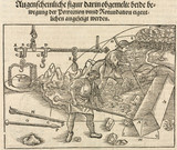 Tools and equipment for manoeuvering stone blocks, 1548.