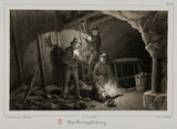Mining accident, Germany, c 1851.