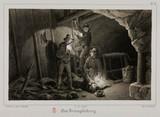 Mining accident, Germany, c 1851.