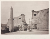 'The Remaining Obelisk and Ruins of Temple at Luxor', Egypt, c 1870s.