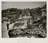 'A Temple-Garden in Tokio', Japan, c 1874-1875.