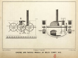 Engine and paddle wheel of Bell's 'Comet', 1812.