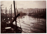 Whitby Harbour at low tide, c 1905.